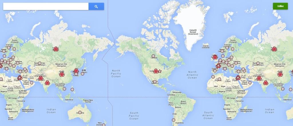 The Nuclear Landscape – jaderné zbraně na mapě světa