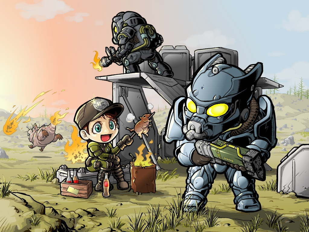 Fallout 3 přetvořený do anime – 8 obrázků