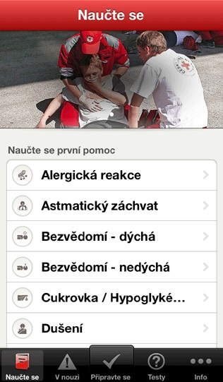 První pomoc v mobilu – aplikace zdarma